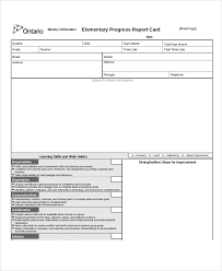 elementary progress report template progress report template 47 free sle exle format