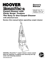 hoover carpet cleaner instructions 8605