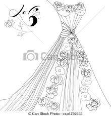 vector of wedding dress csp4792658 search clip art illustration