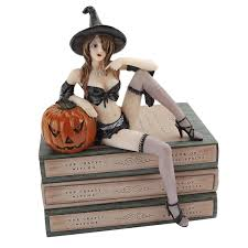 amazon com halloween temptress witch shelf sitter statue wicked