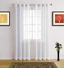 63 White Curtains Warm Home Designs Pair Of 2 Size 54 Width X