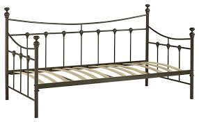 metal daybed bronze finish with wooden slats twin size