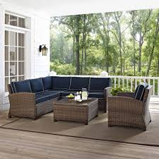 5 Piece Nursery Furniture Set by Crosley Furniture Bradenton 5 Piece Outdoor Wicker Seating Set
