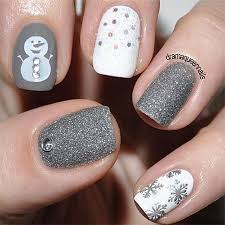 very easy winter nail art designs 2013 2014 for beginners learners
