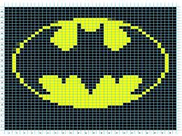 ravelry batman logo chart pattern elizabeth thomas