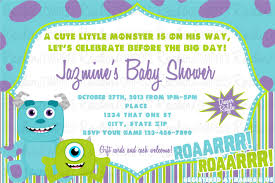 monsters inc baby shower invitations afoodaffair me