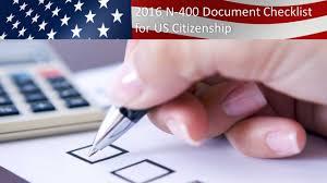 n400 u s citizenship n 400 document checklist youtube