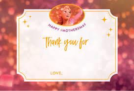 disney princess mother u0027s cards print