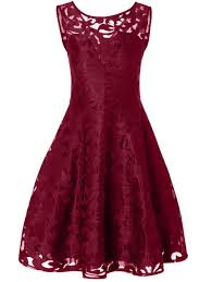lace plus size holiday short cocktail dress burgundy xl in plus