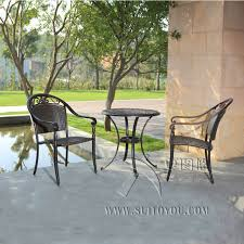 Rattan Bistro Table Rattan Bistro Set 3 Furniture Table And Chairs Garden