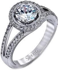 simon g engagement rings simon g split shank halo engagement ring lp1921