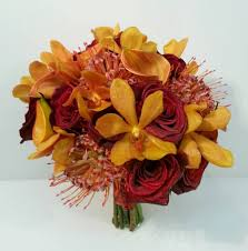 wedding flowers calgary dahlia floral design fall orange orchid unique real calgary