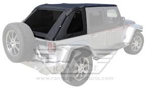 jeep soft top black rampage trail top frameless soft tops 106035 free shipping on