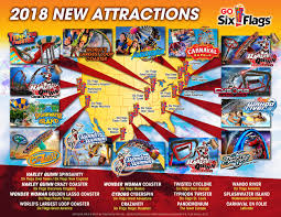 Great America Map by Theme Park Overload Six Flags Parks 2018 New Attractions