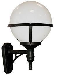 Outdoor Globe Light Glenbeigh Upward Facing Opal Globe Black Outdoor Wall Light