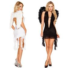 2 color popular black white angels costume halloween
