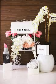 Bridal Shower Centerpieces Chanel Flower Cart Bridal Shower Decoration Apartamento Miami