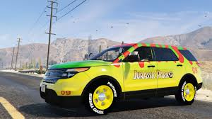 Ford Escape Yellow - gta v jurassic park classic livery ford explorer enromovies