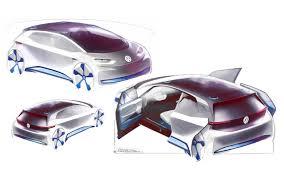 volkswagen electric concept 2016 volkswagen i d concept car sketches 9 2560x1600