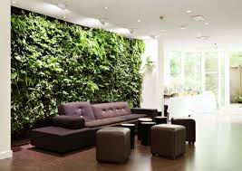 interior modern indoor garden wall inspiration with brown modern