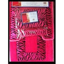 zebra print bathroom rug set u2013 house decor ideas