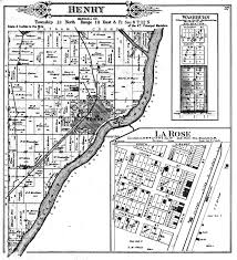 Illinois Township Map by Henry Township