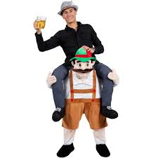 Badass Mens Halloween Costumes Shoulder Carry Piggy Ride Fancy Dress Party