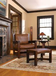 Craftsman Home Interior Design Stickley Eastwood Chair And Ottoman The Mission Home Pinterest