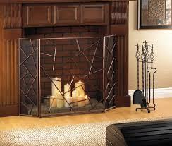 modern geometric fireplace screen
