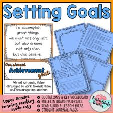 morning meeting activities for goal setting achievement theme in