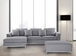 divano ottomano divano angolare in tessuto grigio chiaro con ottomana oslo destro
