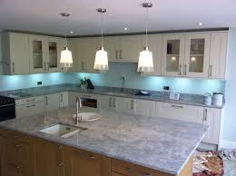 interior kitchen backsplash blue subway tile throughout