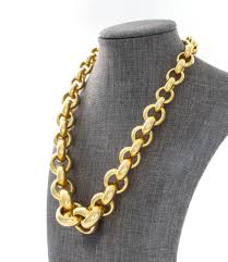large gold link necklace images 14k yellow gold tapered circle link necklace louise doggett fine jpg