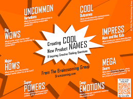 creating cool product names for a new product idea creative