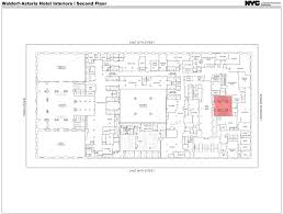 Public Floor Plans by Public Hearing Held On Interior Designations For Waldorf Astoria