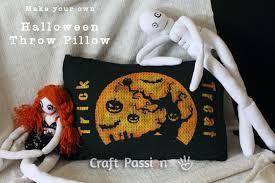 halloween throw pillow free pattern craft passion