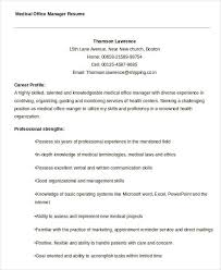 Medical Office Manager Resume Sample by Free Manager Resume Templates 40 Free Word Pdf Documents