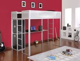 Loft Bed Full Size With Desk Powell Rock And Roll Full Size Metal Loft Bed With Study Desk