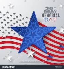 Big American Flags Vector Poster Memorial Day Big Blue Stock Vector 643822606