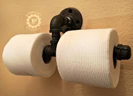 double toilet paper holder steampunk decor industrial decor