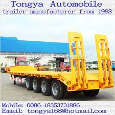 semi truck manufacturers low bed truck semi trailer manufacturer tongya 3 4 axles low bed