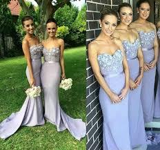 wedding dresses for of honor lilac bridesmaid dresses mermaid chiffon