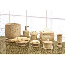 stone bathroom accessories you u0027ll love wayfair