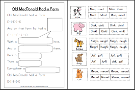 printable animal activities old macdonald had a farm printable activities a to z teacher stuff