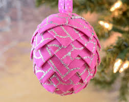 pink ribbon ornament etsy