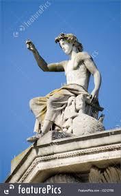 sculptures apollo statue ashmolean museum oxford stock photo