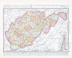 State Map Of Virginia by Vintage Map Of The State Of West Virginia Usa 1900 Stock Photo