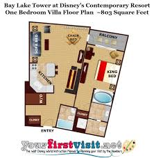disney bay lake tower floor plan bay lake tower 1 bedroom villa ayathebook com
