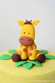 giraffe cake topper i heart baking giraffe baby shower cake