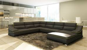 Leather Sectional Sleeper Sofa With Chaise Living Room Gray Leather Sectional Sofa Sectionals Grey Sofa